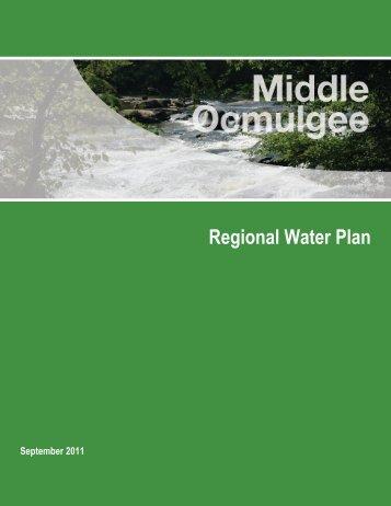 Regional Water Plan - Middle Ocmulgee