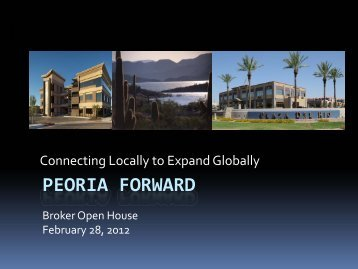 Peoria investment conference - Peoria Economic Development Group