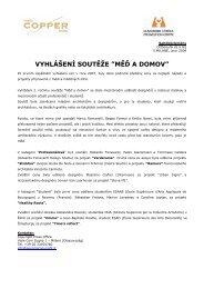 """vyhlášení soutěţe """"měď a domov"""" - MedPortal"""