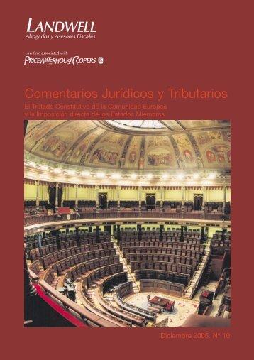 Comentarios Jurídicos y Tributarios - pwc