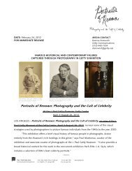 Portraits of Renown - News from the Getty