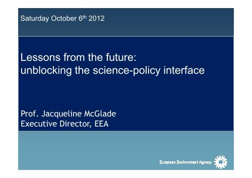 McGlade_Lessons from the future_ unblocking ... - Berlin Conference