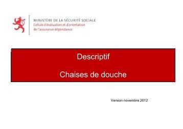 """Guide """"Descriptif chaises de douche"""""""