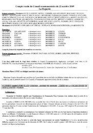 22 octobre 2009 à La Hoguette - Communauté de Communes du ...
