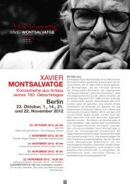 1. NOVEMBER 2012, 20 Uhr - Instituto Cervantes Berlin