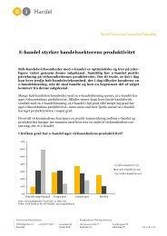 E-handel styrker handelssektorens produktivitet - DI Handel