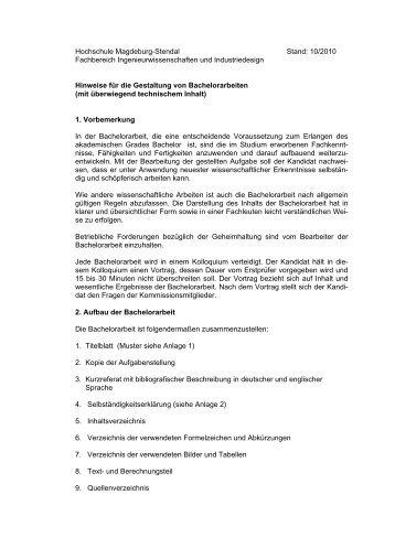 bachelorarbeit - Hochschule Magdeburg-Stendal