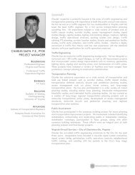 charles smith, pe, ptoe project manager - Renaissance Planning ...