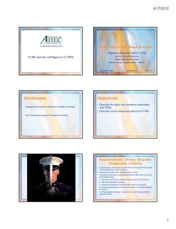4/17/2012 1 Disclosures Objectives - sowega ahec