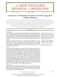 Continuous Lenalidomide Treatment for Newly Diagnosed Multiple ...