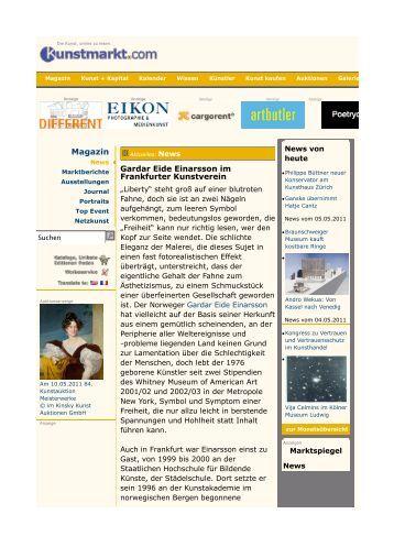Ausstellung Gardar Eide Einarsson Kunst-Magazin News Berichte