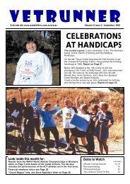 CELEBRATIONS AT HANDICAPS - ACT Veterans Athletics Club