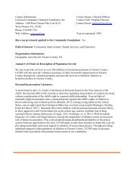 Contact Information - Chester County Community Foundation
