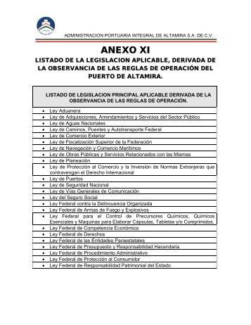 ANEXO XI - Puerto de Altamira