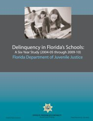 delinquency in florida's schools - Florida Department of Juvenile ...