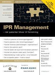 IPR Management - IBC Euroforum