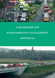 A Framework for Major Emergency Management Appendices - The ...