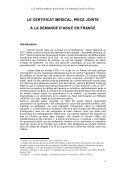Le Certificat médical, pièce jointe à la demande d'asile en France - Page 4