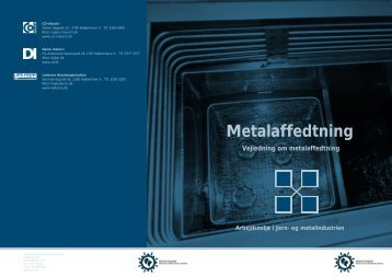 Hent Metalaffedtning - Industriens Branchearbejdsmiljøråd