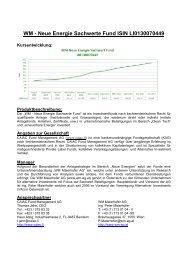 Factsheet WM Neue Energie Sachwert Fund - WM AG