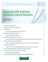 Integrated OTN Switching Virtualizes Optical Networks - Infinera