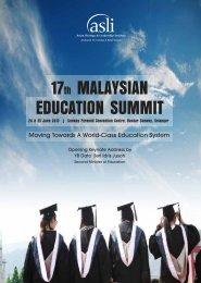 17th MALAYSIAN EDUCATION SUMMIT - Asian Strategy ...