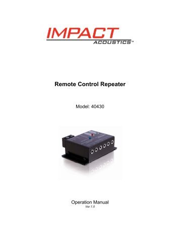 Remote Control Repeater - Cables To Go
