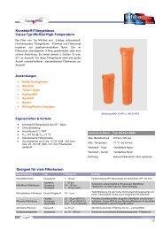 Kunststoff Serie Typ NN-Red High Pressure (PDF ... - Infiltec GmbH