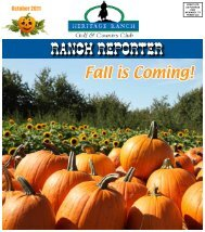 RANCH REPORTER - Heritage Ranch
