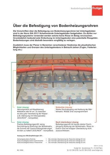 Bodenheizungsrohre Magazine
