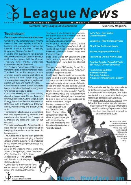 League News Layout1 - Cerebral Palsy League