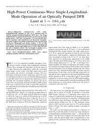 High-Power Continuous-Wave Single-Longitudinal ... - IEEE Xplore