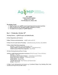 Workshop Goals Day 1 – Wednesday, October 10th - AgMIP