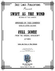 Swift as the Wind - JLP-8861 - Score.MUS - Ejazzlines.com