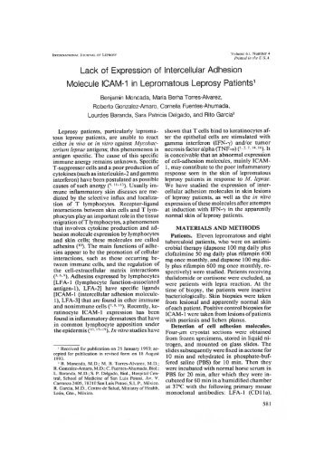 Lack of Expression of Intercellular Adhesion Molecule ICAM-1 in ...