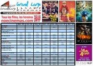 du Mercredi 17 juillet au Mardi 23 juillet 2013 Programme du 17 au ...