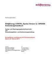APERAK / CONTRL AHB 2.1 Konsolidierte ... - Edi-energy.de