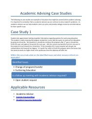 Academic Advising Case Studies - Algonquin College