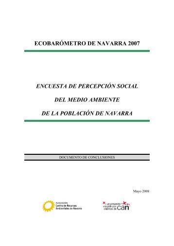 ECOBARÓMETRO DE NAVARRA 2007 ENCUESTA DE ...