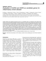 Evaluation of AGR2 and AGR3 as candidate genes - Genome ...