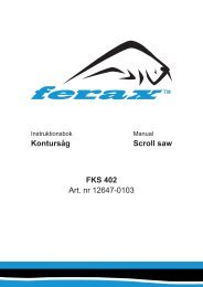 FKS 402 Art. nr 12647-0103 Scroll saw Kontursåg