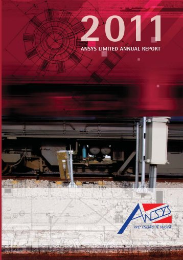 to download the Annual Report - Ansys