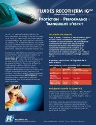 Brochure de produit - Recochem Inc.