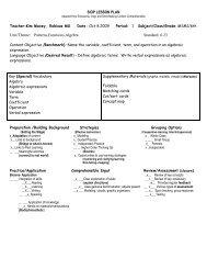 Patterns, Functions, Algebra - ACT-ESL