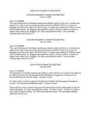 jurisprudence examination - Kentucky: Board of Dentistry