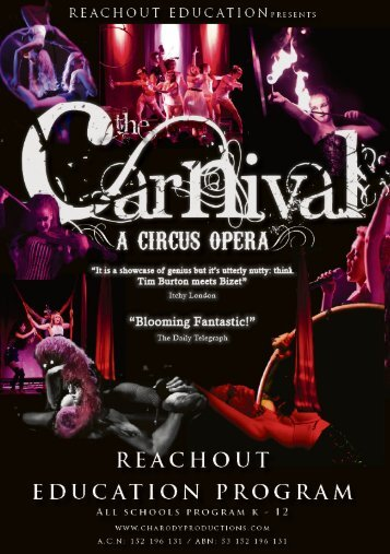 carnivalis a circus opera composed by Chloé Charody and