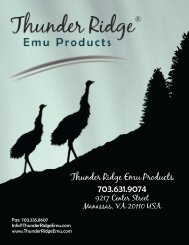 Thunder Ridge Emu Products - New Hope > Home