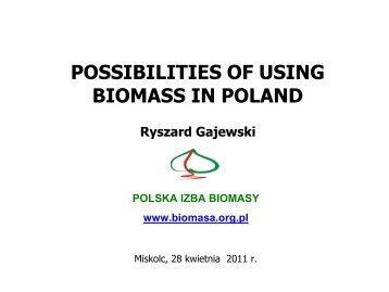 POLSKA IZBA BIOMASY www.biomasa.org.pl
