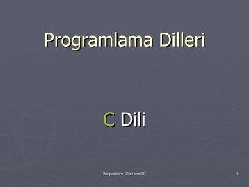 Programlama Dilleri C Dili