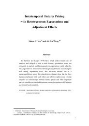 Intertemporal Futures Pricing with Heterogeneous Expectations and ...